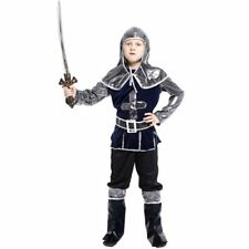 Kids Warrior Knight Costume Swordsman Crusader Halloween Carnival Cosplay Outfit
