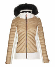 Womens KILLTEC Khya Insulated Ski Jacket Coat Zip-Off Hood Snowcatcher OFF WHITE