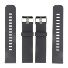 Men's Gray Silicone Rubber Watch Strap Band Waterproof Diver Wristwatch Belt