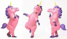 Inflatable Unicorn Costume Horn Horse Halloween Suit for Adult Child