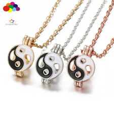 Aroma Diffuser yin and yang Necklace Lockets Perfume Essential Oil Aromatherapy