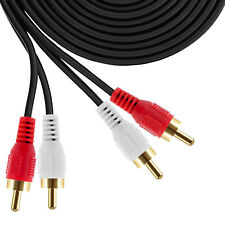 Heavy Duty Copper Shell 2 RCA Male to 2 RCA Male Stereo Audio Cable RCA Cables