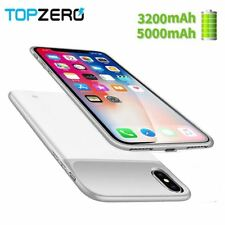 New 3200/5000mAh Portable Soft Silicone Battery Charger Case For iphone X batter