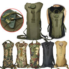 3L Multi-function Water Bladder Bag Military Hiking Camping Hydration Backpack