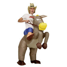 Adult Kid Inflatable Costume Ride On Horse Cowboy Cosplay Outfit Blow Up Suit