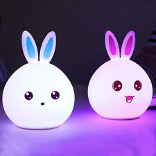 Tap Control Rechargeable Night Light Touch Sensor Silicone Rabbit LED Lamp