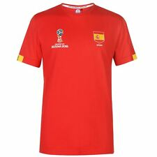 FIFA World Cup 2018 Spain Core T-Shirt Mens Red Football Soccer Top Tee Shirt