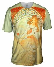 "Yizzam- Alphonse Mucha - ""The Arts Painting"" (1898) - New Men Unisex Tee Shirt"