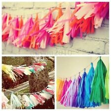 5 Pcs Tissue Garlands Bunting Ballroom Paper Tassels Wedding Pom Party Decor
