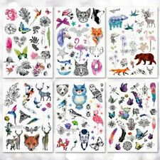 Unisex Temporary Tattoo Stickers Waterproof Fake Little Animal Pattern Body Art