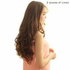 "20"" 3/4 Full Head Curly Wave 5 Clips in Synthetic Hair Extensions 4.6 Oz"