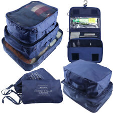 Arxus Travel Waterproof Packing Organizers Cubes with Shoe Bag and Toiletry Bag