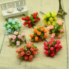 12pcs Silk Material Bouquet Diy For Home Wedding Decoration Ad23