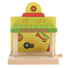 Wooden Train Track Railway Accessories DIY Building Toy Set for Kids Boys