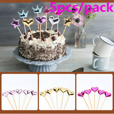 Decor Party Supplies Kids Favors Cupcake Toppers Cake Decor Glitter Star Picks