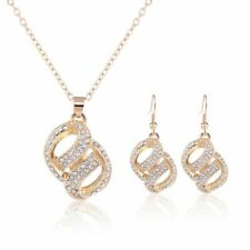 Heart Earrings Pendant Set Jewelry Gold Silver Color Austrian Crystal Jewelry