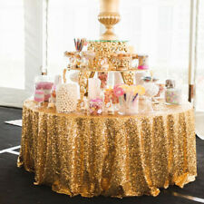 60/80/100CM Sequin Glitter Tablecloth Table/Cloth Cover For Wedding Event Party