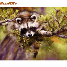 RUOPOTY Frame Animals DIY Oil Painting By Numbers Kits Acrylic Paint On Canvas