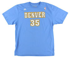 Adidas Mens Denver Nuggets NBA Kenneth Faried Name and Number T Shirt Light Blue
