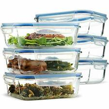 Glass Meal Prep Food Storage Containers (6-Pack 35oz) Oven Safe Portion Control