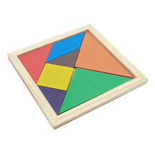 Creative Classic Wooden Tangram Jigsaw Puzzle Early Educational Toy for Kid