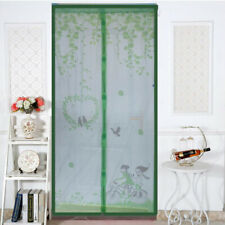 Magnetic Screen Door with Heavy Duty Mesh Curtain for Living Room Green