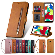 Zipper Wallet Case Leather Flip Cover for Samsung Galaxy S10E S9 S8+S7 Note10+/9