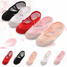 Canvas Ballet Pointe Yoga Dance Shoes Kids Adult Fitness Gymnastics Slippers