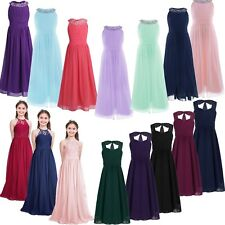 Girls Flower Dress Princess Pageant Bridesmaid Wedding Communion Party Gown Prom