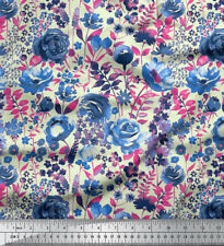 Soimoi Rose Floral Printed 20 GSM 44 Inches Wide Pure Silk Fabric By The Yard