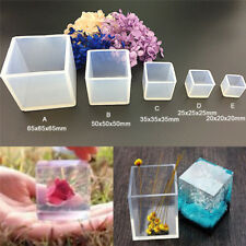 DIY Silicone Pendant Mold Jewelry Making Cube Resin Casting Mould Craft Tool UR