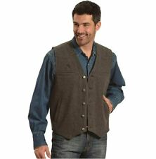 Wyoming Traders Men's Wyoming Charcoal Wool Vest WVCL