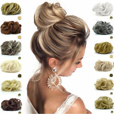 Real Soft Curly Messy Bun Hair Piece Scrunchie 100% Natural Hair Extensions AAA