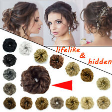 Large Curly Messy Bun Hair Piece Scrunchie Thick Hair Updo Extension as Human 98