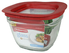 Rubbermaid 2856005 Food Storage Container, Square, Glass, 5.5-Cup - Quantity 1