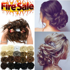 X-LARGE Messy Curly Bun Hair Piece Scrunchie Updo Wrap Hair Extensions as Human