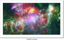 Nebula And Galaxy In Space. Art/Canvas Print. Poster, Wall Art, Home Decor