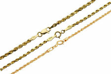 "14k Yellow Gold 1.5mm-2.5mm Italy Rope Chain Twist Link Necklace 16""-30"""