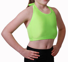 Lycra Crop Top Halter Neck - Flo Colours