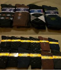 Men's Dress Sock Size 10-13 Argyle &/or Solids w/ small designs Free Ship to USA