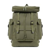 Military Backpack WWII Style H.D Rucksack Olive -Black-Navy-Brown