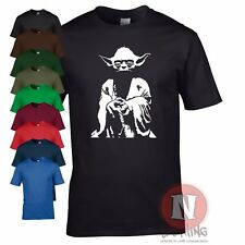 YODA STAR WARS saga Jedi DVD movie t-shirt the Force
