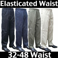 Mens Elasticated waist smart casual Rugby trousers