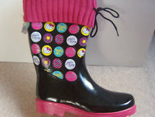 LADIES HELLO KITTY (BUTTONS) WELLIES