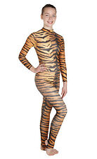Catsuit Long Sleeves Polo Full Back Siberian Tiger