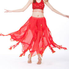 NWT belly dance Costume skirt with gold wavy 9 Colours