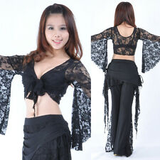 New Belly Dance Costume Bolero Lace Top Flared Blouse 11 Colors