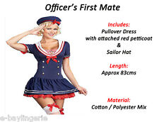 Navy Sea Sailor Girl Ladies Fancy Dress Costumes Outfit HALLOWEEN Party Nautical