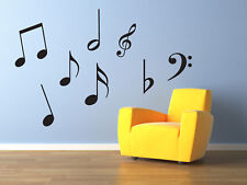 wall stickers, wall deco, wall art, music notes
