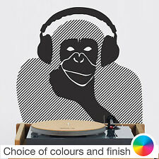 Vinyl Wall Sticker Art Decal : Monkey With Headphones